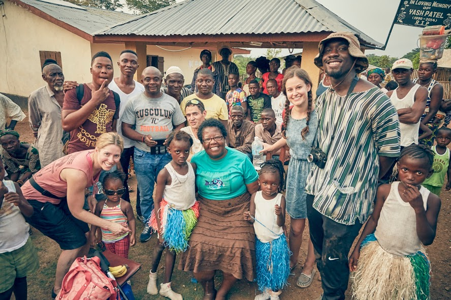 Young Vision Africa Team '16 In Sierra Leone-Michelle, Alan, Rev. Enid, Chelsea, Lloyd